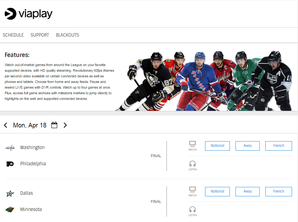 Viaplay NHL